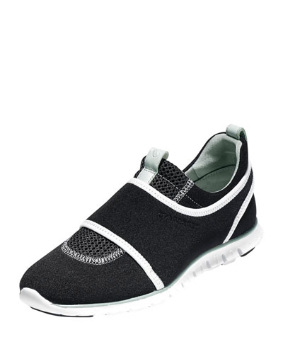 ZeroGrand Mesh Slip-On Sneaker, Black/White