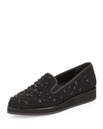 Betina Beaded Mesh Slip-On, Black