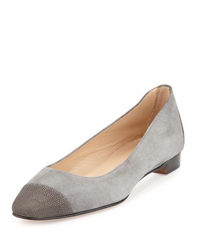 Lee Stingray Cap-Toe Ballet Flat, Gray