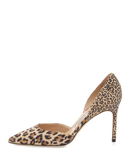 Taylerbi Suede d'Orsay Pump, Leopard