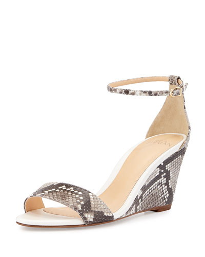 Python Mid-Wedge Sandal, Neutral