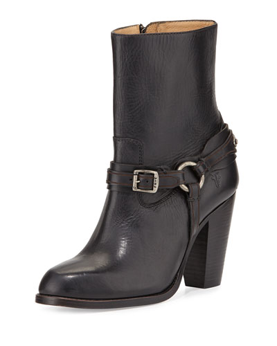 Jenny Plate Short Boot, Black