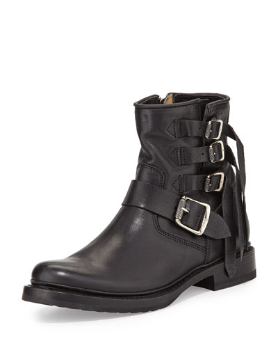 Veronica Multi-Strap Ankle Boot, Black