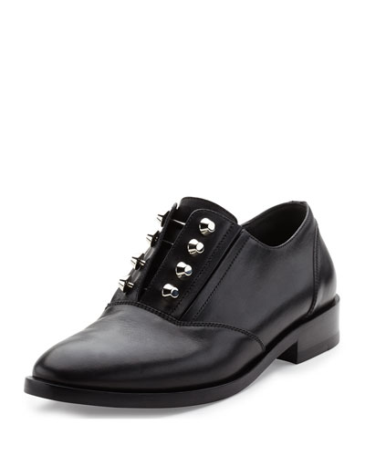 Studded Leather Derby Shoe