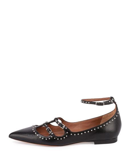 Givenchy Studded Leather Ballet Flat, Black