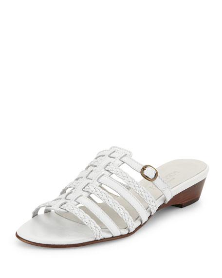 Sesto Meucci Greer Strappy Woven Sandal, White