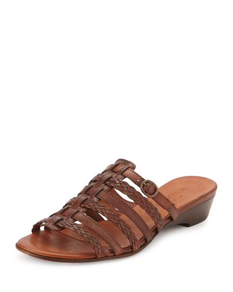 Sesto Meucci Greer Strappy Woven Sandal, Cuoio