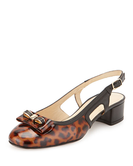 Sesto MeucciDoreen Slingback Bow Pump, Tortoise Brown