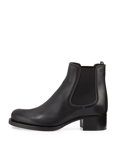 Side-Stretch Ankle Boot, Nero