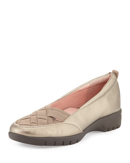 Taryn Rose Alick Stretch-Woven Flat, Quartz