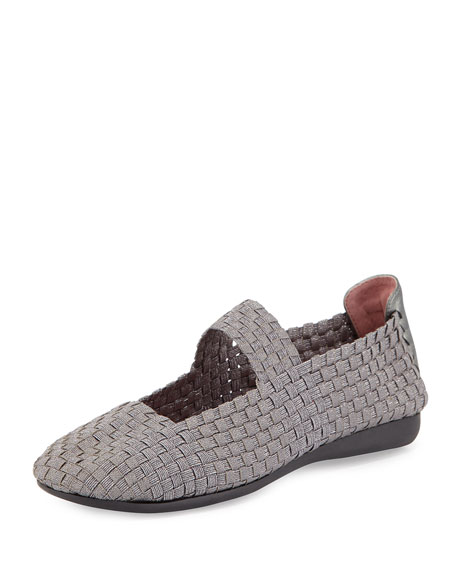 Taryn RoseBela Stretch Mary Jane Flat, Pewter