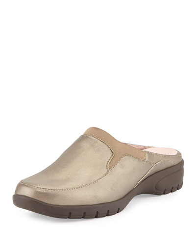 Avika Slip-On Leather Mule, Quartz