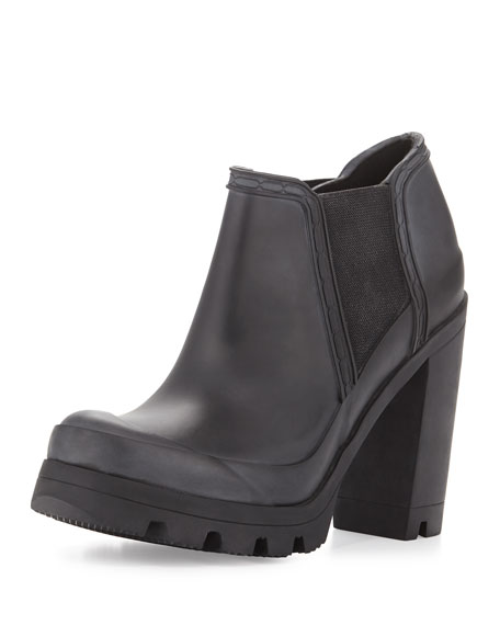 Hunter Boot Original High-Heel Rubber Boot, Black
