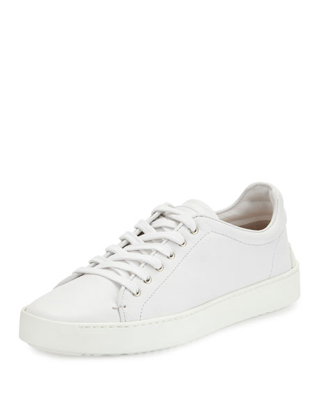 Rag & Bone Kent Lace-Up Leather Low-Top Sneaker, White