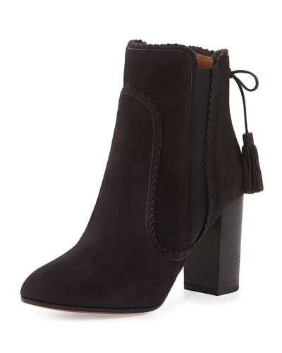 Boho Beatle Suede Bootie, Charcoal
