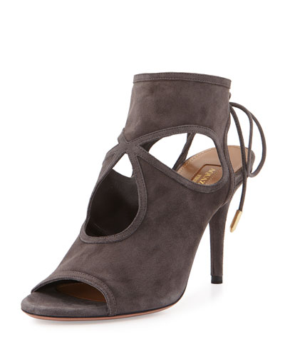 Sexy Thing Suede Sandal, Gray
