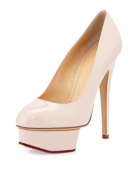Charlotte Olympia Dolly Patent Platform Pump, Blush