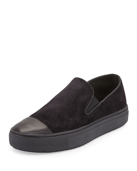 Vince Neda Cap-Toe Slip-On Sneaker, Black