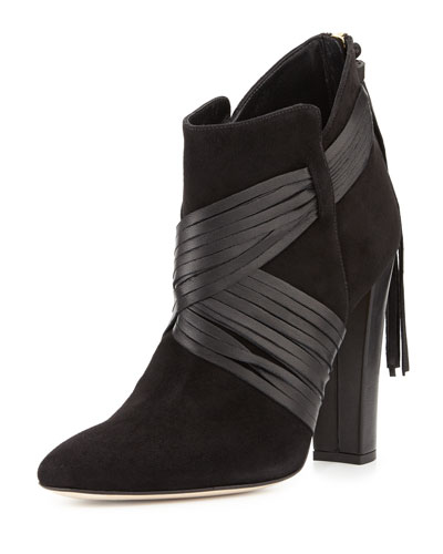 Harris Suede Ankle Boot, Black
