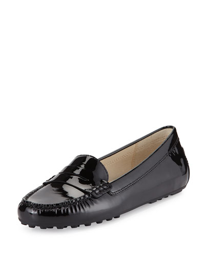 Daisy Patent Leather Loafer, Black