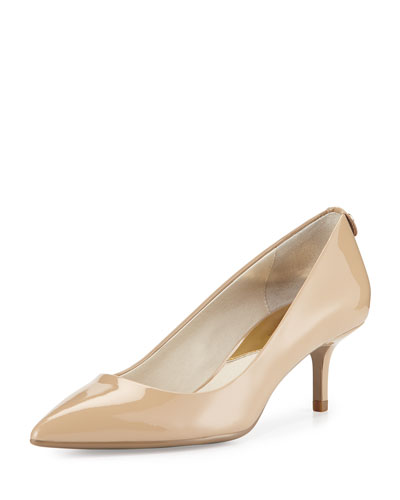MK-Flex Patent Leather Pump, Nude