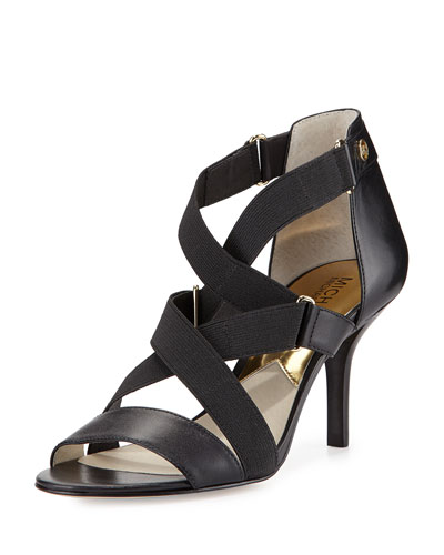 Wendy Strappy Stretch Sandal, Black