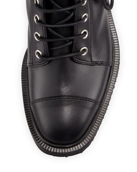 Giuseppe Zanotti Hilary Lace-Up Combat Boot, Black (Nero)