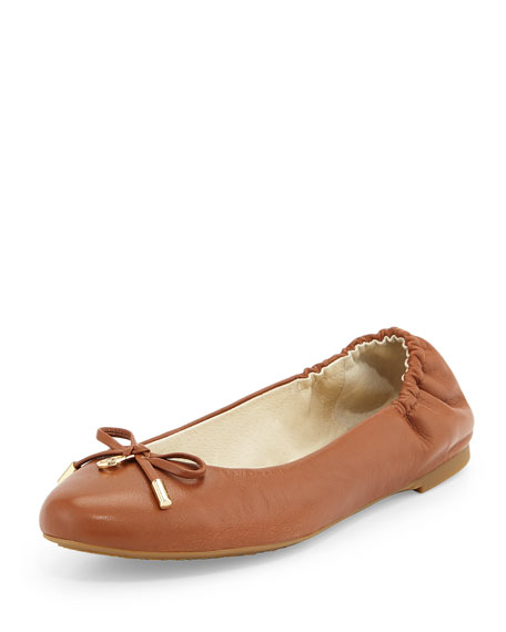 MICHAEL Michael Kors Melody Napa Leather Ballet Flat,