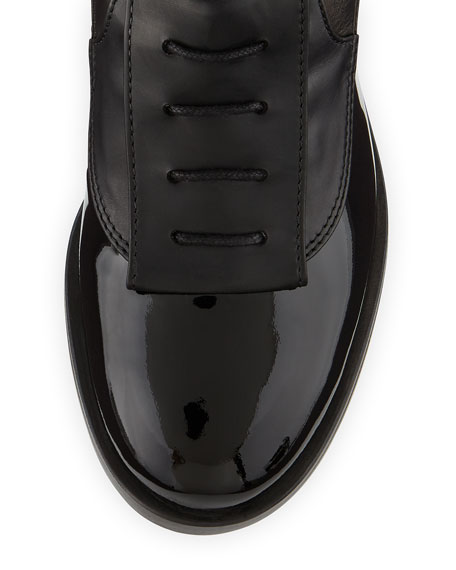 Laurence Dacade Inde Lace-Up Leather Ankle Boot, Black