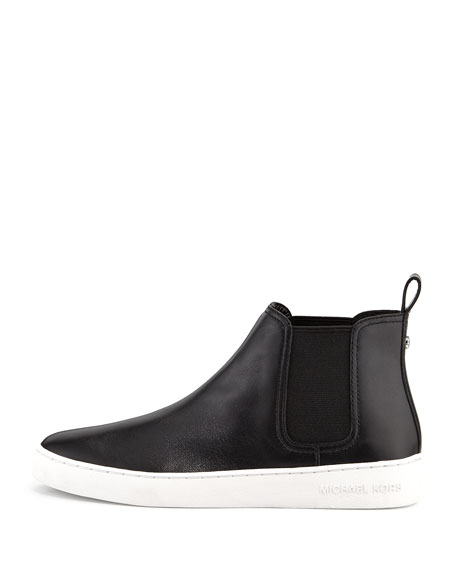 Keaton Leather Sneaker Bootie, Black