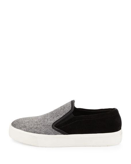Banler Flannel Skate Sneaker, Quartz/Black