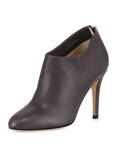 Mendez Grained Leather Bootie, Mist