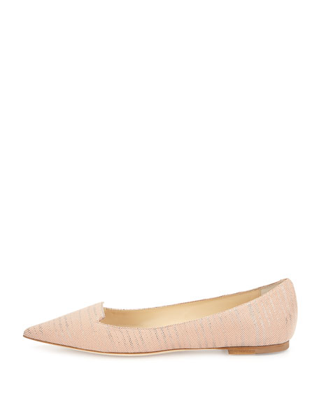 Attila Pixelated Leather Flat, Pink