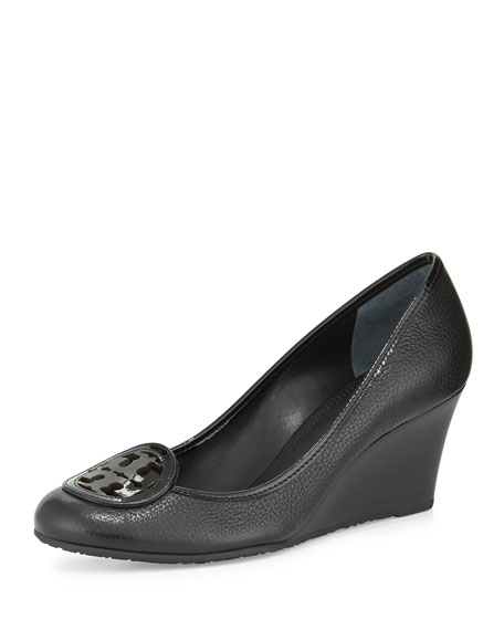 Tory Burch Louisa Logo Wedge Pump, Black