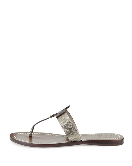 Moore Metallic Thong Sandal, Mercury