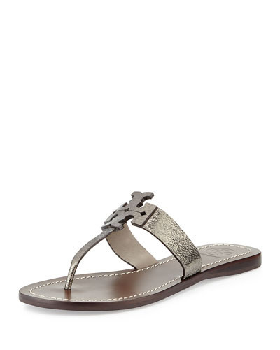 Moore Metallic Thong Sandal, Mercury