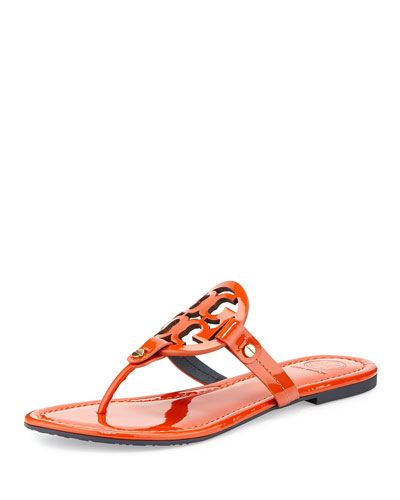 Miller Logo Flat Sandal, Orange