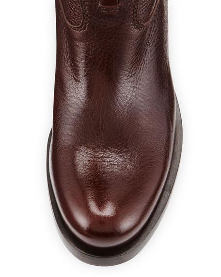 Cervo Antik Logo Riding Boot, Brown (Caffee)