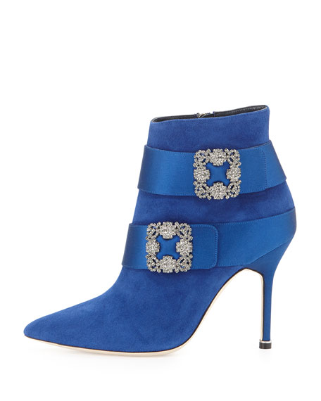 Hangisi Suede Ankle Boot, Electric Blue