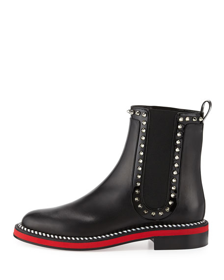Christian Louboutin Nothing Hill Red Sole Boot, Black