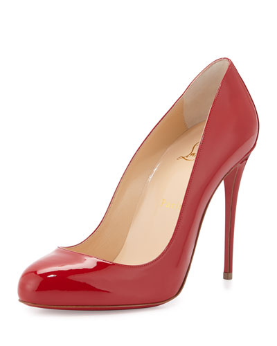 Dorissima Patent Red Sole Pump, Red