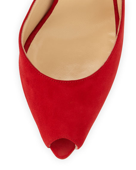 Barbara Knot-Heel Red Sole Pump, Oeillet