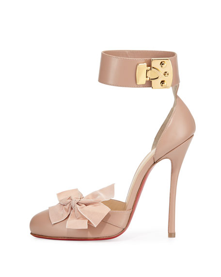 christian louboutin patent leather bow pumps