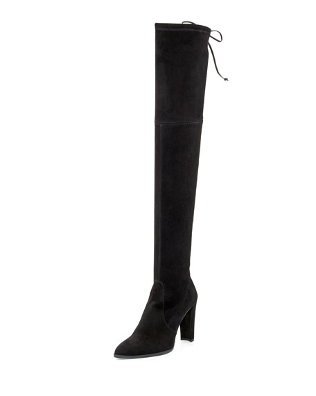Stuart Weitzman Highstreet Suede Over-the-Knee Boot, Black