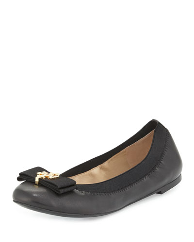 Mayberry Logo-Bow Ballet Flat, Black
