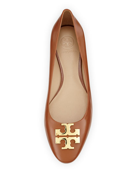 8d3ab56f46a68b ... flats 5d772 78b92 coupon for tory burch raleigh new logo ballet flat  nutria gold neiman marcus c4575 8e9cb ...