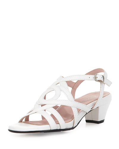 Oma Strappy Leather Sandal, White