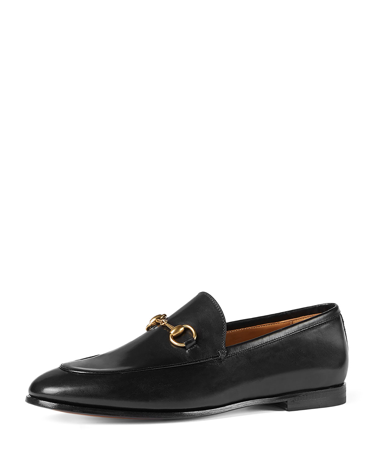 3ef312e044d6 Gucci Jordaan Leather Bit Loafer