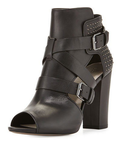 Estel Strappy Studded Bootie, Black