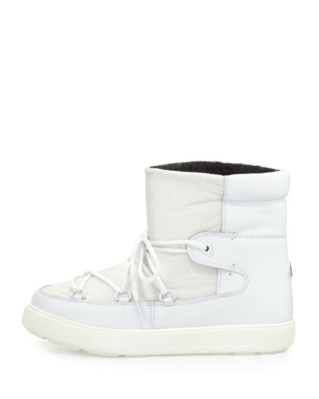 Fanny Lace-Up Ankle Boot, White